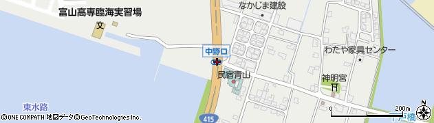 中野口周辺の地図