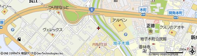 富山県高岡市内免神明町周辺の地図