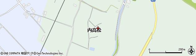 石川県かほく市内高松わ周辺の地図