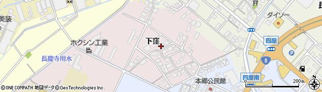 富山県高岡市下窪周辺の地図