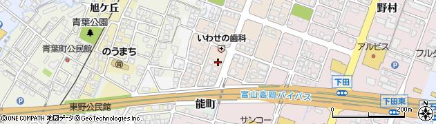 富山県高岡市能町南周辺の地図