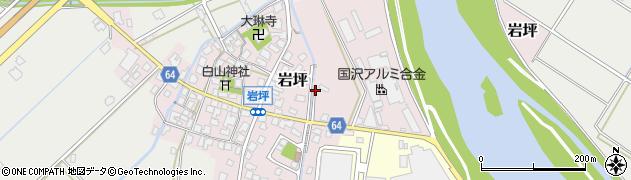 富山県高岡市岩坪周辺の地図