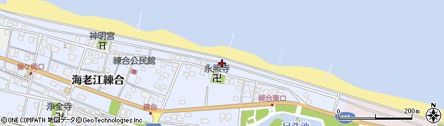富山県射水市海老江練合周辺の地図