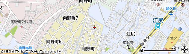 富山県高岡市向野町江尻周辺の地図