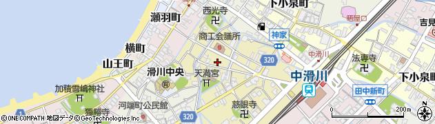 富山県滑川市田中町周辺の地図