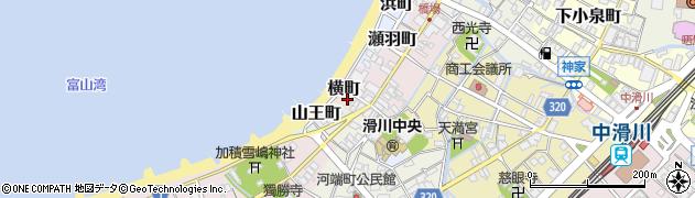 富山県滑川市横町周辺の地図