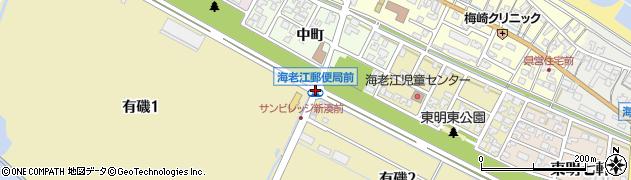 郵便局前周辺の地図