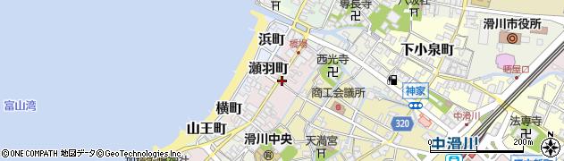 富山県滑川市瀬羽町周辺の地図