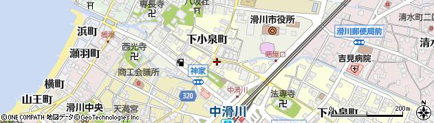 富山県滑川市晒屋周辺の地図