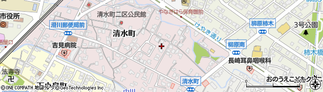 富山県滑川市清水町周辺の地図