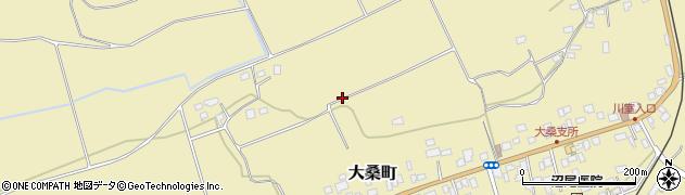 栃木県日光市大桑町周辺の地図