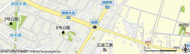 柳原周辺の地図
