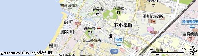 富山県滑川市神家町周辺の地図