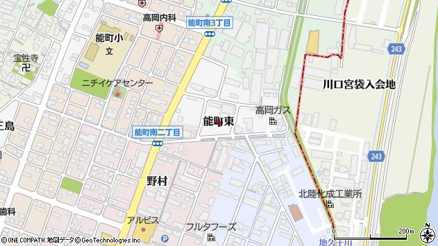 〒933-0004 富山県高岡市能町東の地図