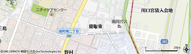 富山県高岡市能町東周辺の地図