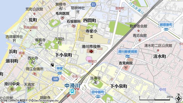 〒936-0000 富山県滑川市(以下に掲載がない場合)の地図