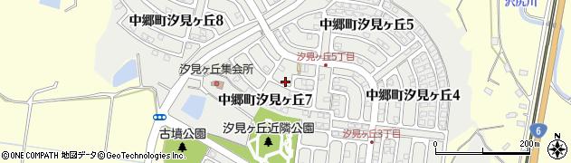 茨城県北茨城市中郷町汐見ヶ丘周辺の地図