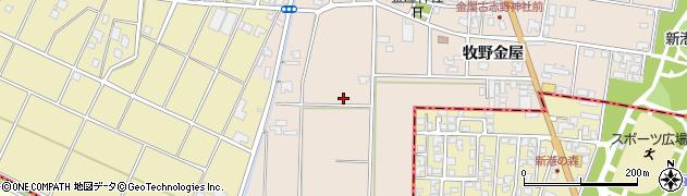 富山県高岡市金屋周辺の地図