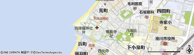 富山県滑川市大町周辺の地図