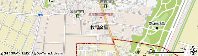 富山県高岡市牧野金屋周辺の地図