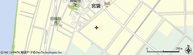 富山県射水市宮袋周辺の地図