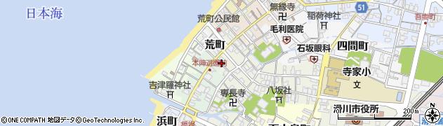 富山県滑川市馬町周辺の地図