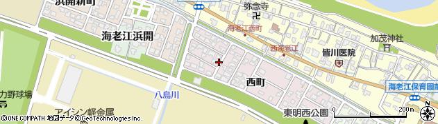 富山県射水市東明西町周辺の地図