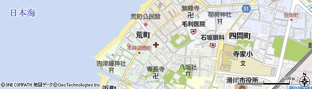 富山県滑川市七間町周辺の地図