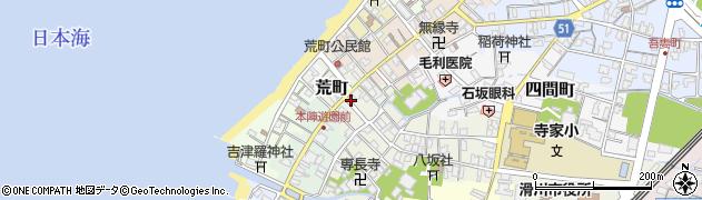 富山県滑川市荒町周辺の地図
