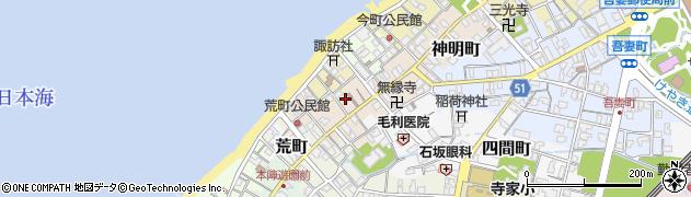 富山県滑川市中町周辺の地図