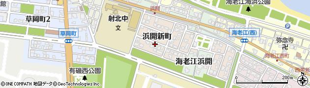 富山県射水市浜開新町周辺の地図