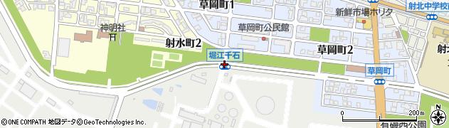 堀江千石周辺の地図