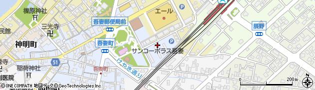 富山県滑川市吾妻町(雇用促進住宅)周辺の地図
