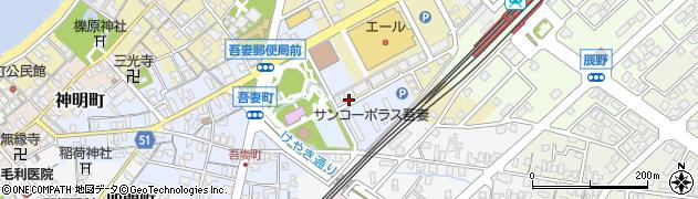 富山県滑川市公園通り周辺の地図