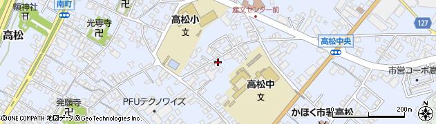 石川県かほく市高松ヤ周辺の地図