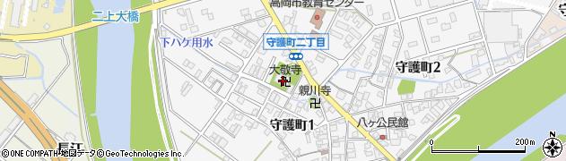 大敬寺周辺の地図