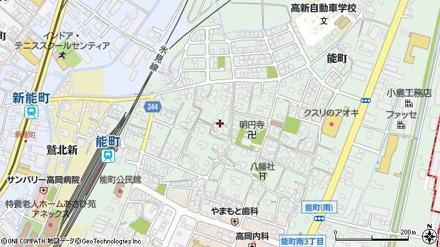 〒933-0003 富山県高岡市能町の地図