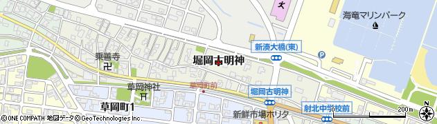 富山県射水市堀岡古明神周辺の地図