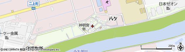 富山県高岡市二上新周辺の地図