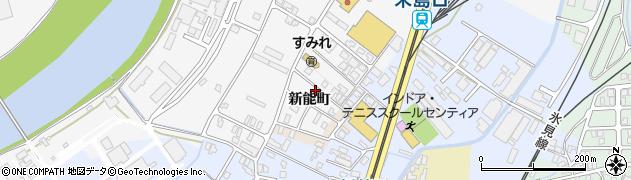 富山県高岡市米島周辺の地図