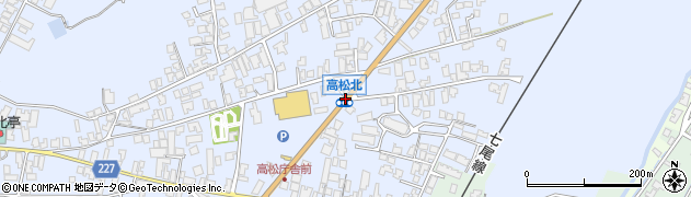 高松北周辺の地図