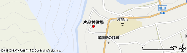 群馬県利根郡片品村周辺の地図