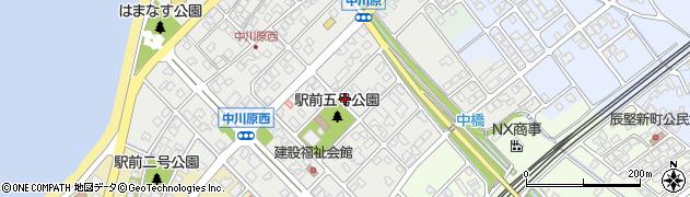 富山県滑川市中川原周辺の地図