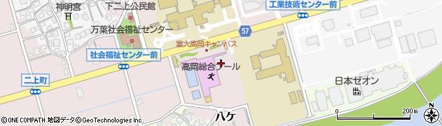 富山県高岡市八ケ周辺の地図