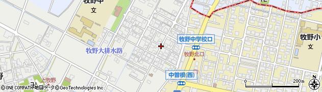 富山県高岡市上牧野若葉町周辺の地図