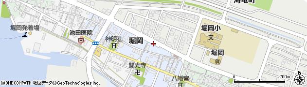 富山県射水市堀岡周辺の地図