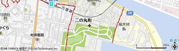 富山県射水市二の丸町周辺の地図