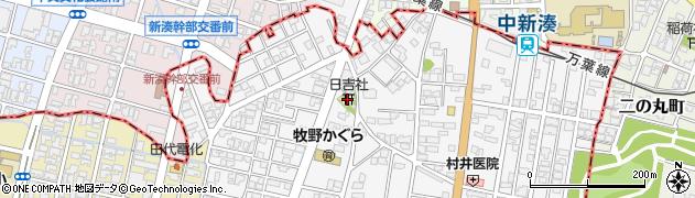 日吉社周辺の地図