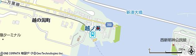 富山県射水市堀岡(新明神西浜)周辺の地図