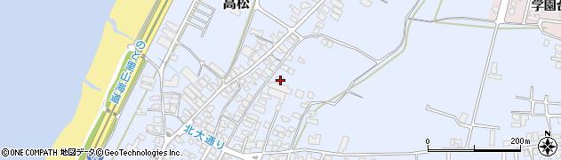 石川県かほく市高松ヨ周辺の地図